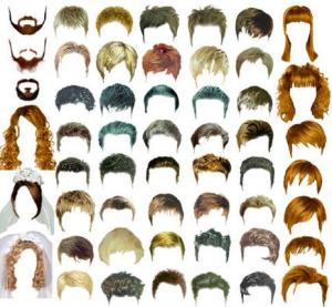 male female hair styles photoshop psd files templates